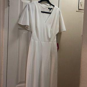 Lauren white jumpsuit with belt